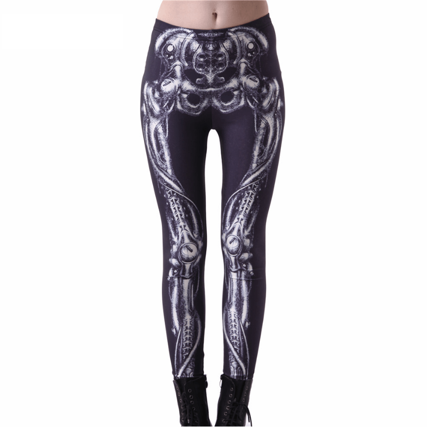 Black Skeleton Leggings