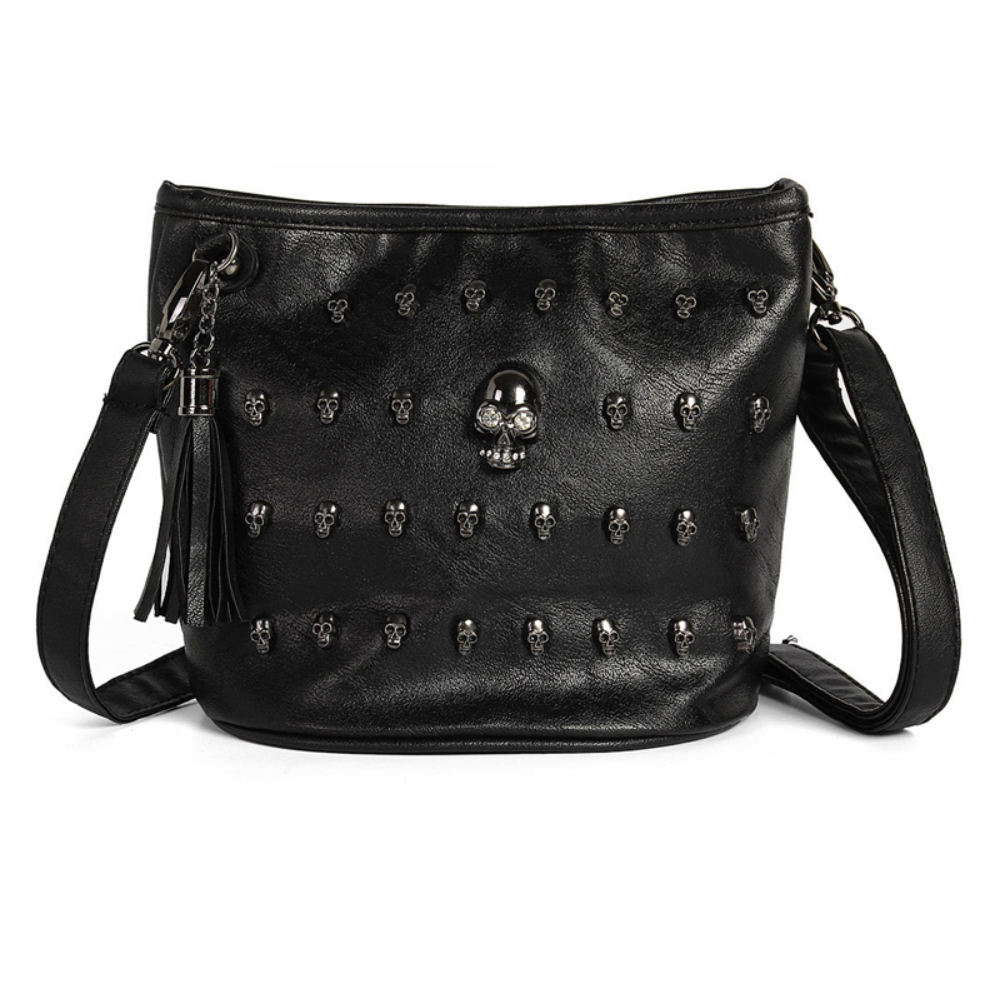 Black Skulls Women Bag