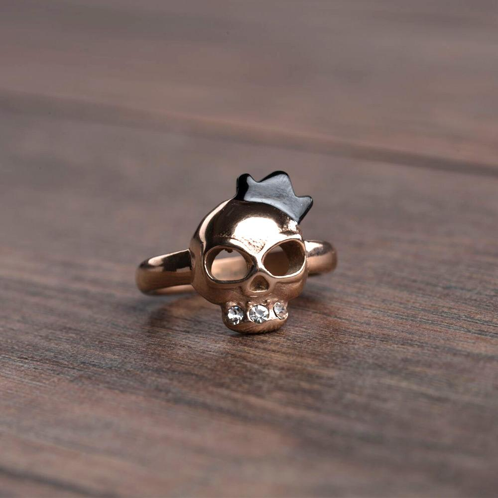 Freya Crowned Skull Ring