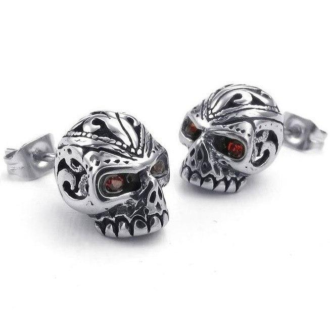 Gothic Stainless Steel Skull Earrings