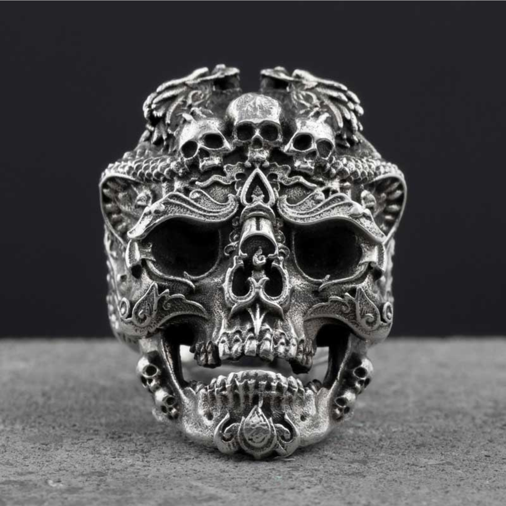 Gothic Skulls Stainless Steel Skull Ring