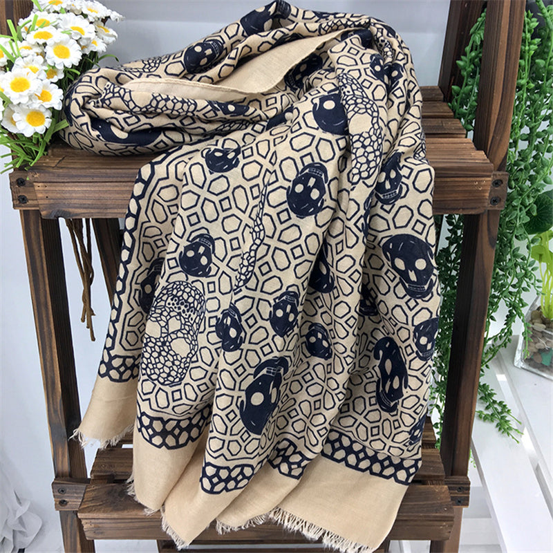 Zapps Printed Skulls Scarf