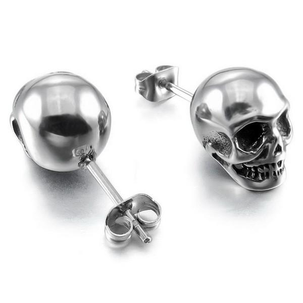 Rebel Stainless Steel Skull Earrings