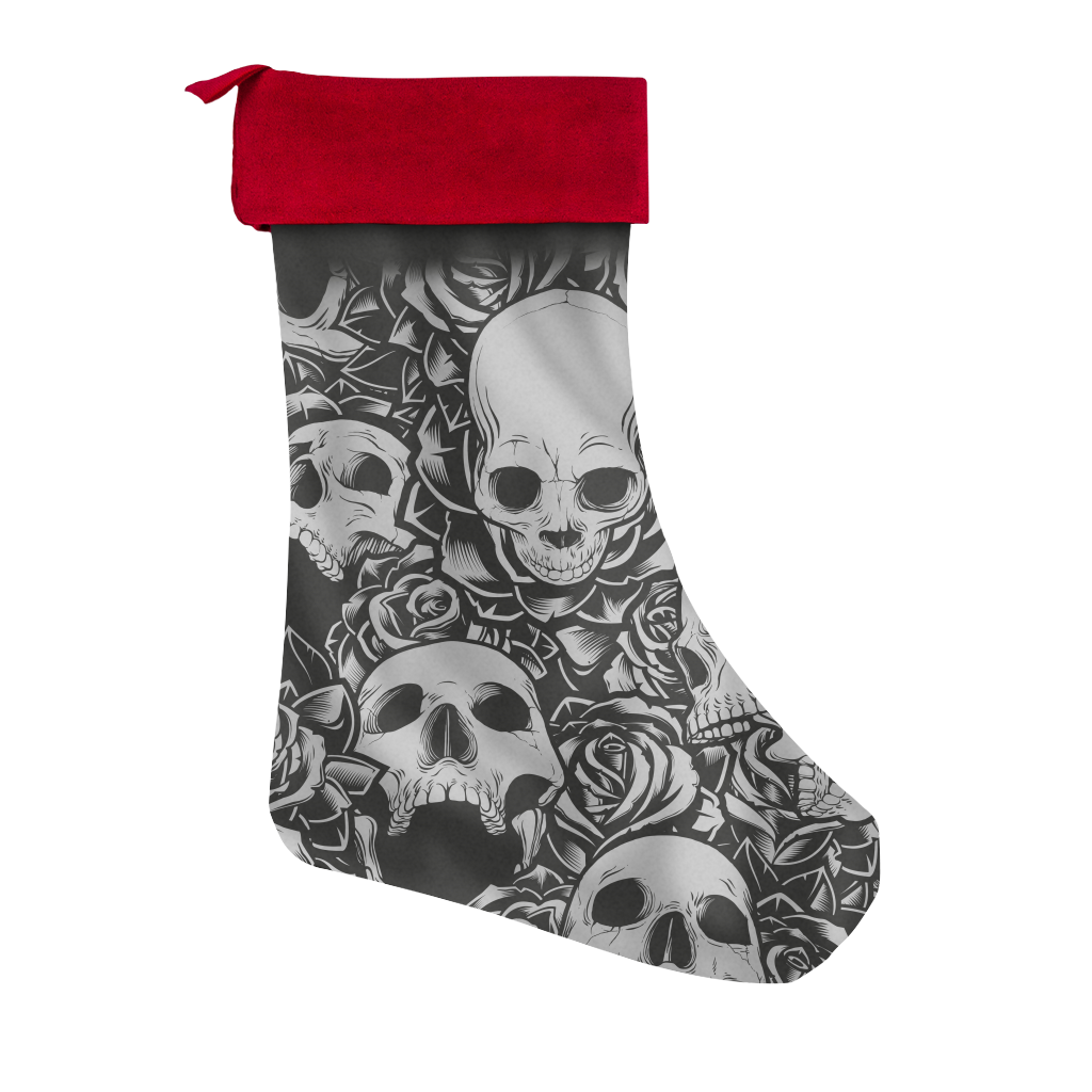 Skulls Are Coming To Town Christmas Stocking