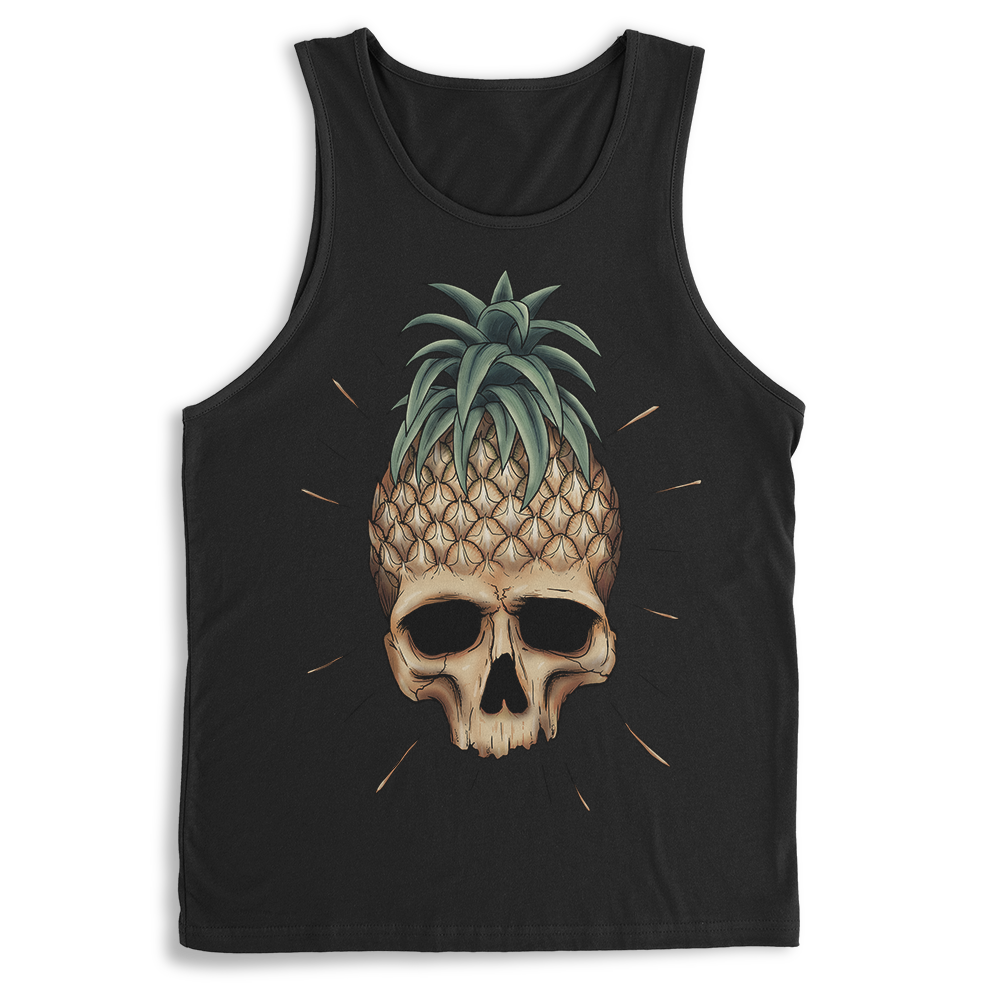 Dark Pineapple Skull Tank