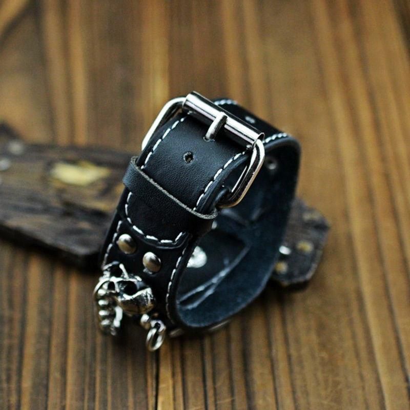 Black Bracelet Skull Watch
