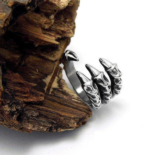 Punk Stainless Steel Dragon Claw Ring