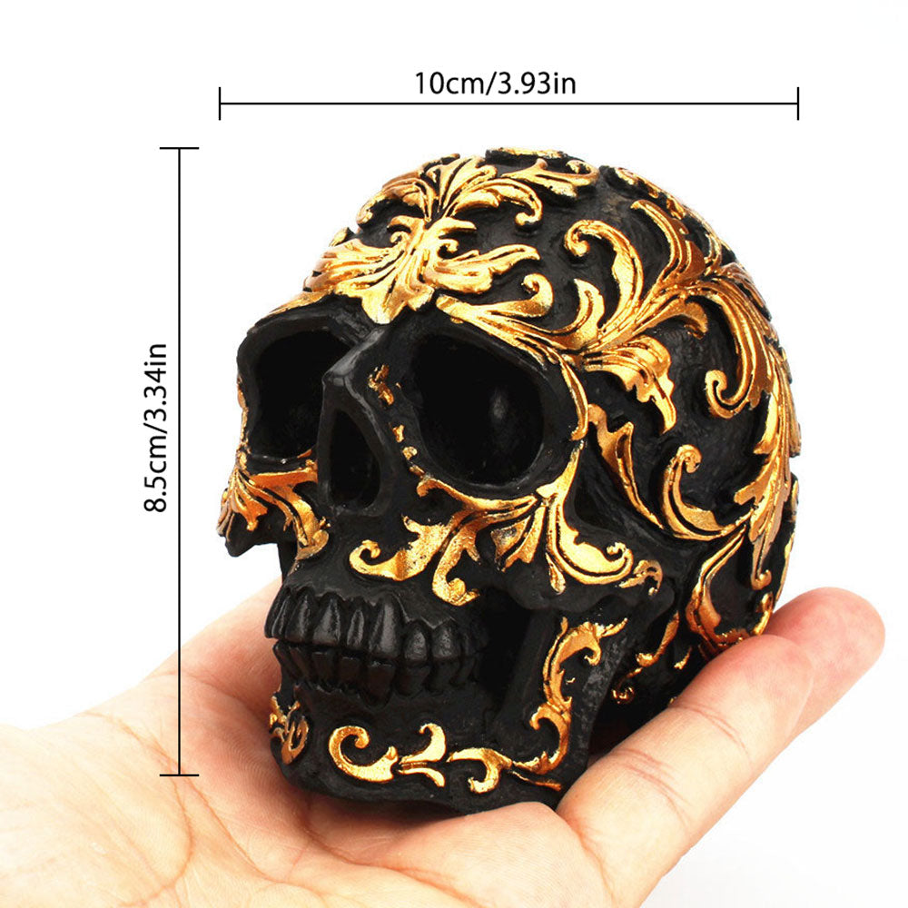 Golden Skull Home Decor