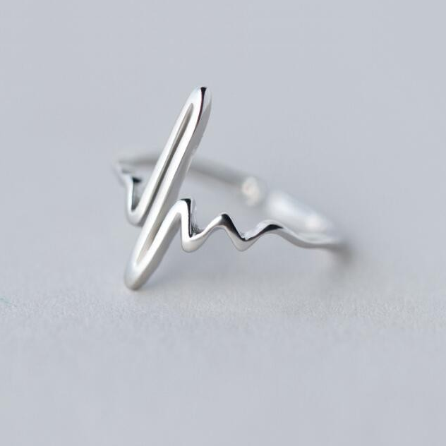 Sterling Silver Heart Beat Ring