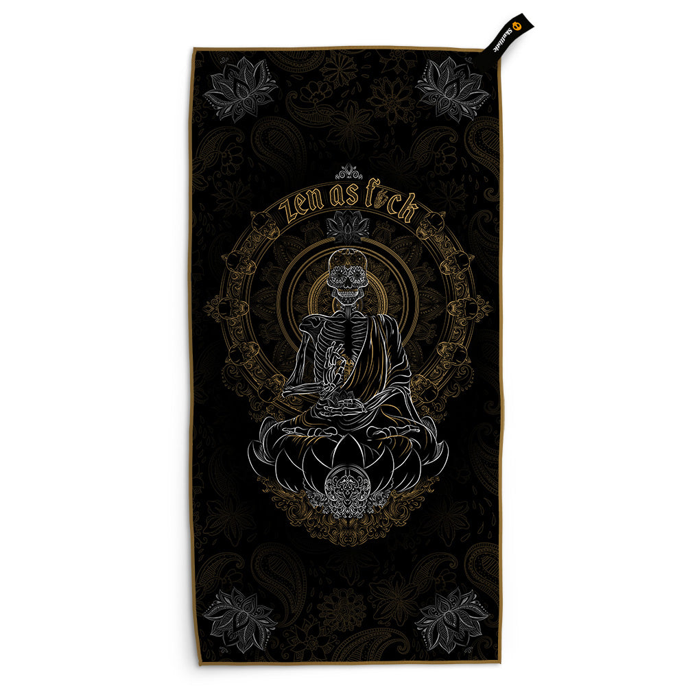 Skullistic Zen Meditating Skeleton Towel