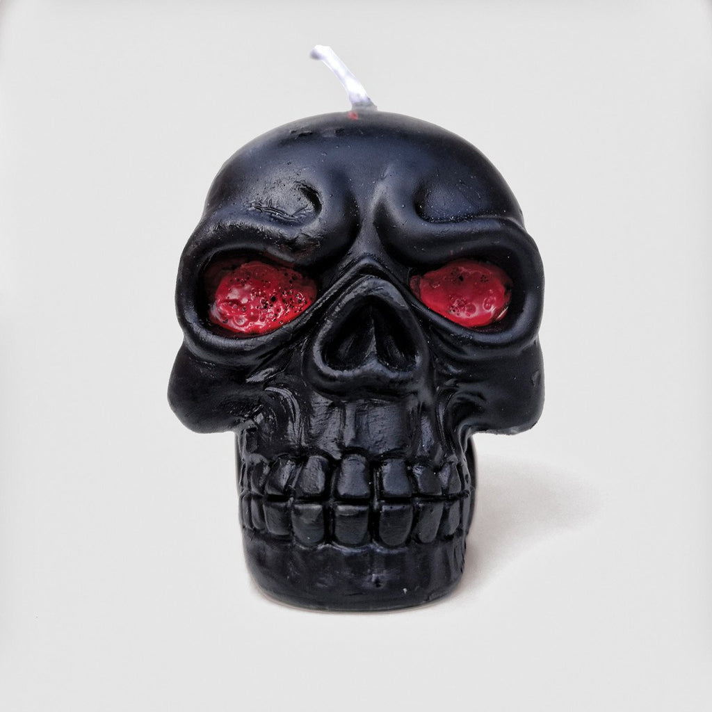 Mini Black Skull Candle Set