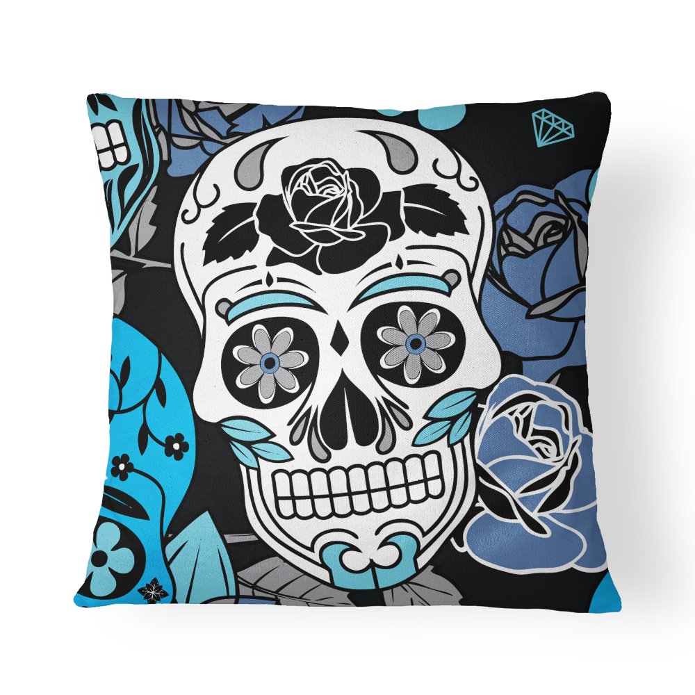 Sugar Skull Pillow Cover