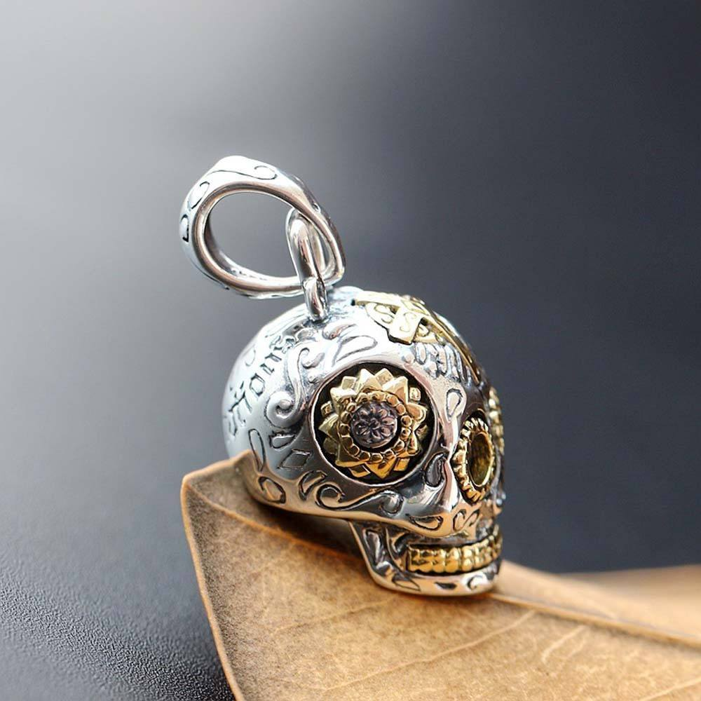 flat back skull pendant products moon raven designs sugar necklace