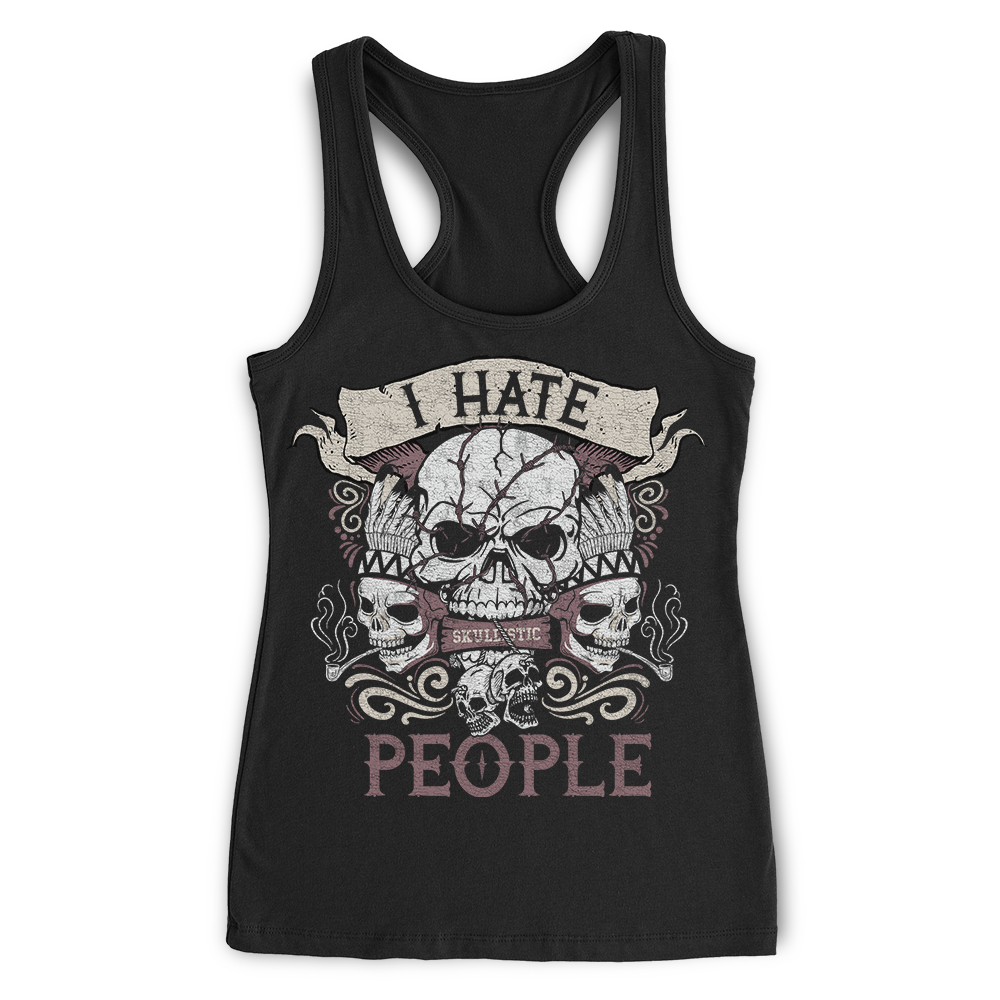 Skullistic I Hate People Skull Apparel