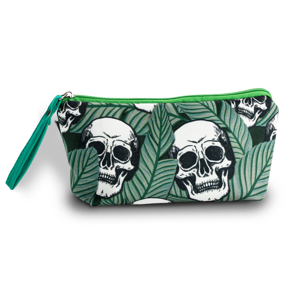 Tropic Skulls Makeup Bag Green
