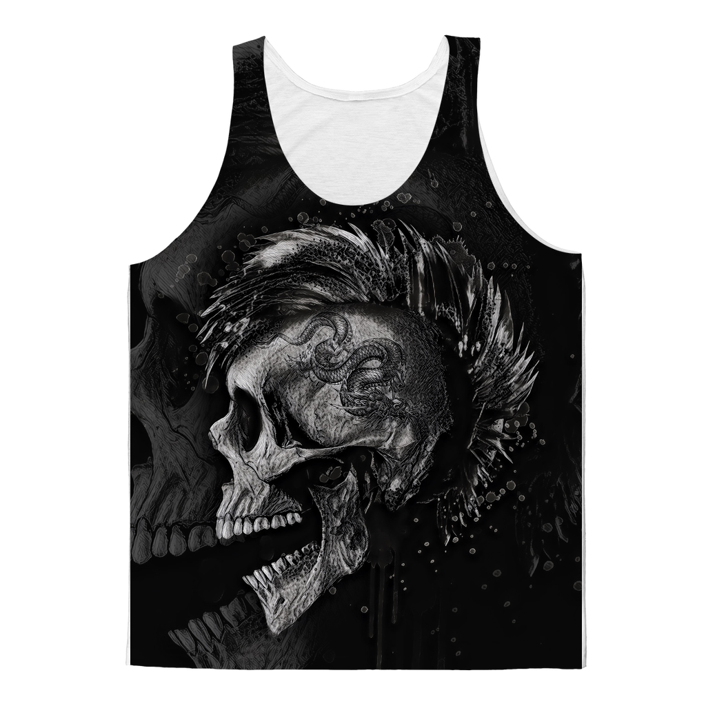 Punk Skull Sublimated Tank Top