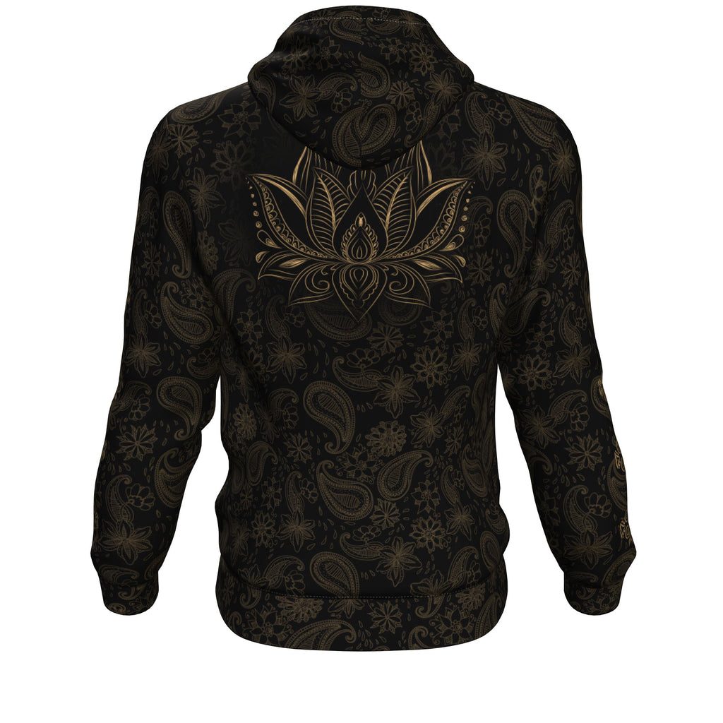Zen Meditating Skeleton All Over Print Unisex Hoodie