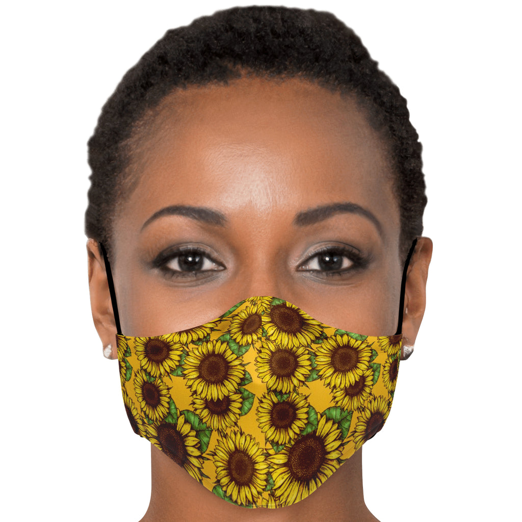 Sunflowers Yellow Face Mask
