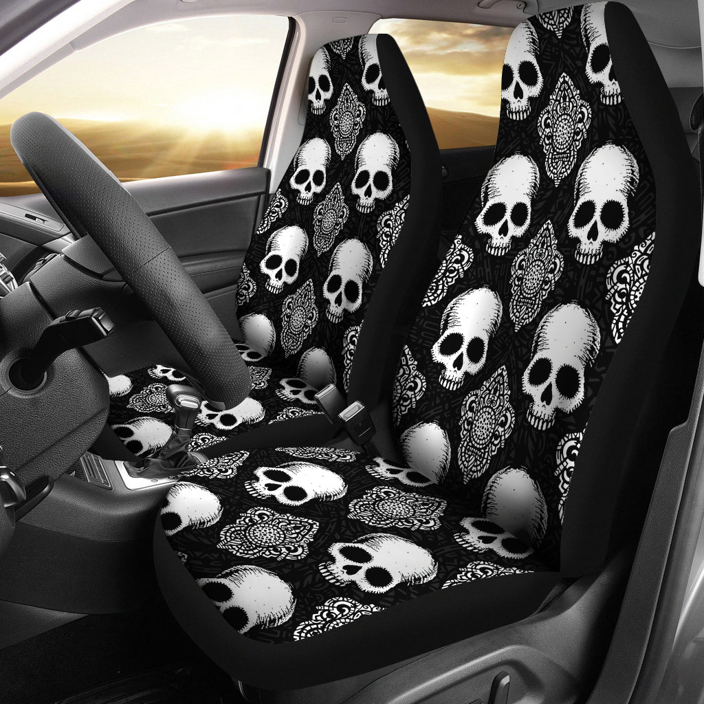 Goth Skull Car Seat Covers