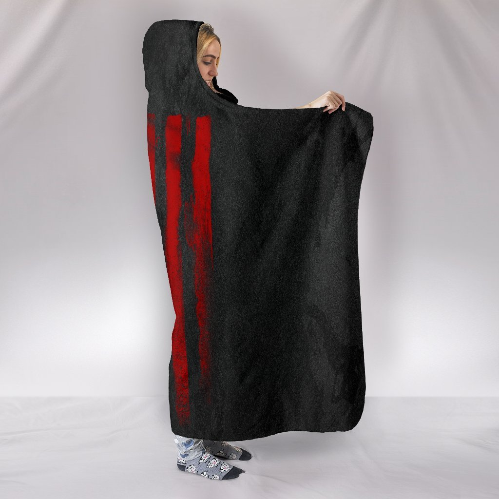 American Skull Nation Hooded Blanket