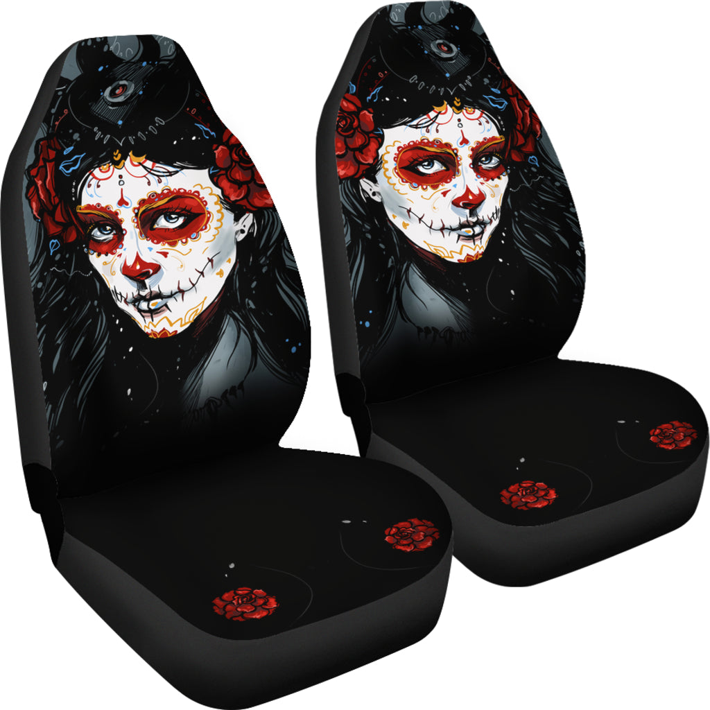 Day Of The Death Car Seat Covers
