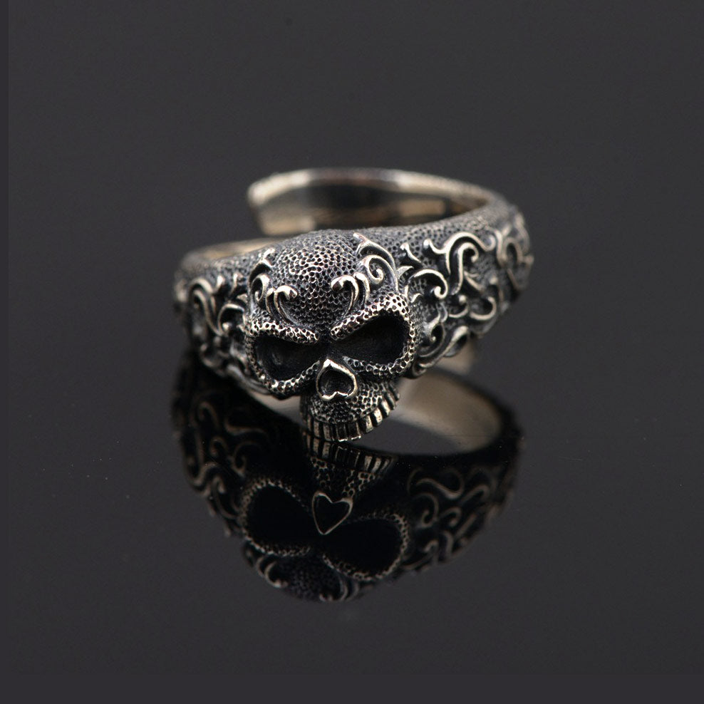 Zapps Gothic 925 Sterling Silver Skull Ring