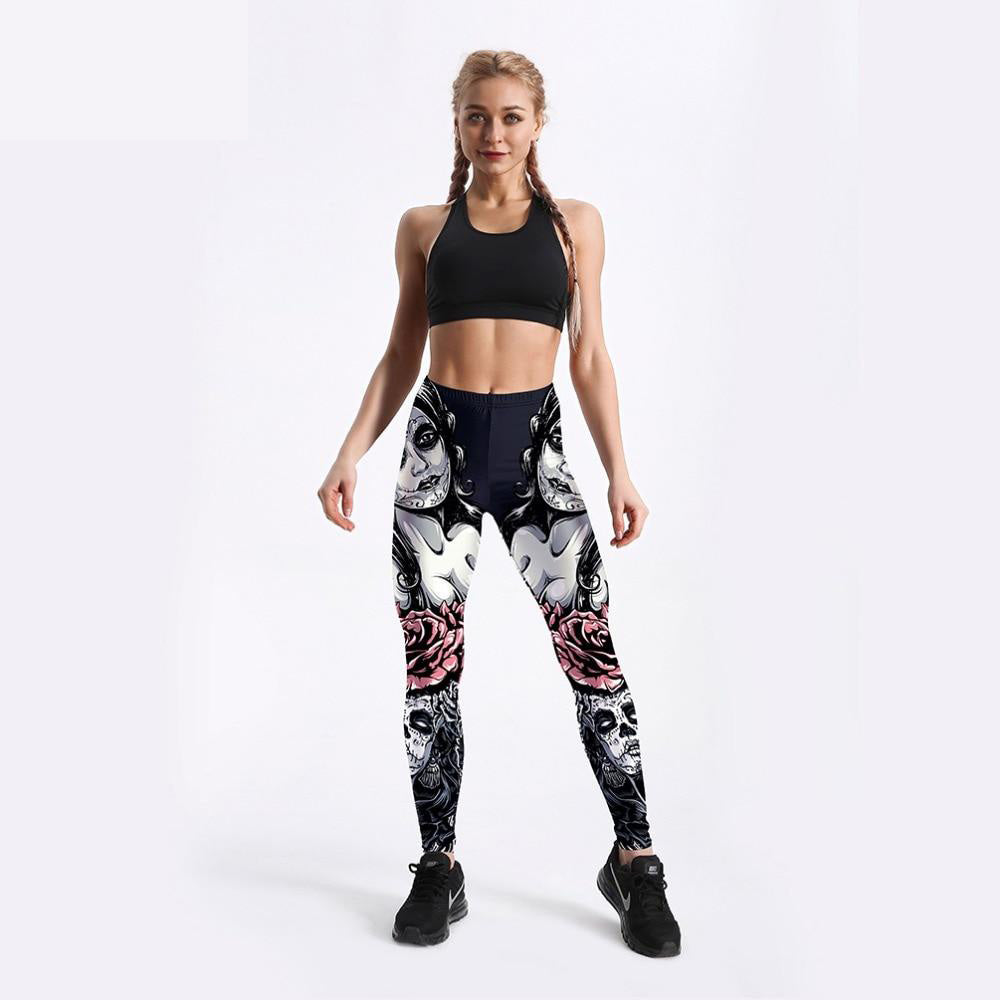 Sweet & Strong Skull Leggings