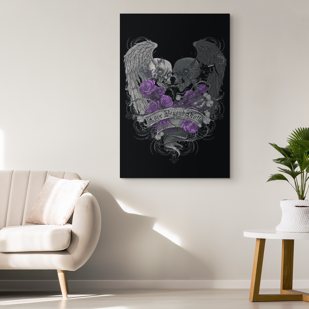 Skullistic™ Love Beyond Death Canvas Wall Art