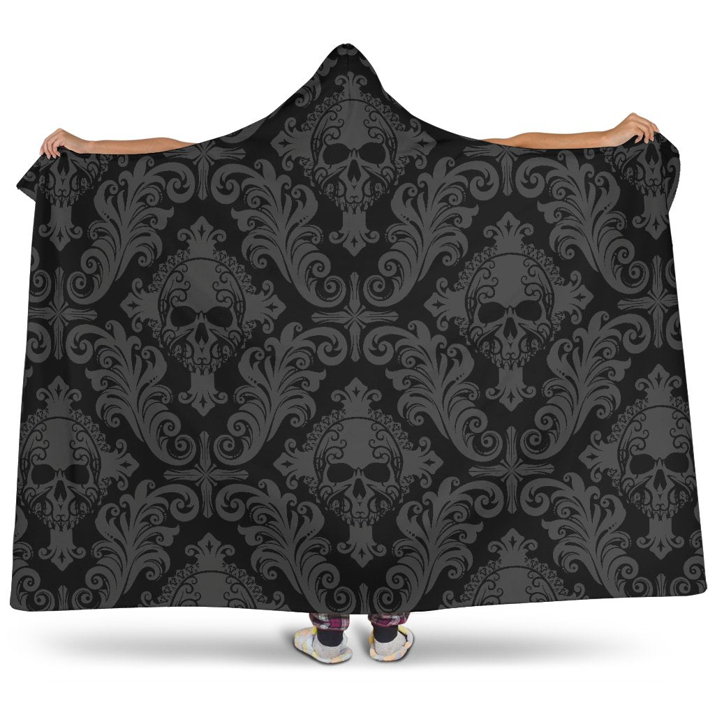 Gothic Skull Hooded Blanket