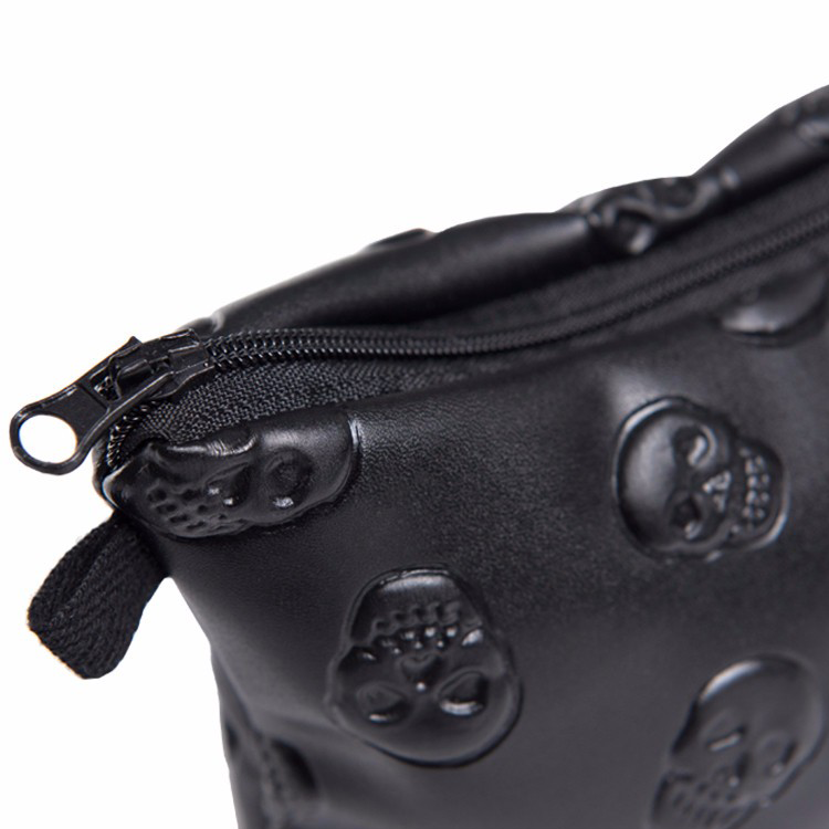Black Skulls Makeup Bag