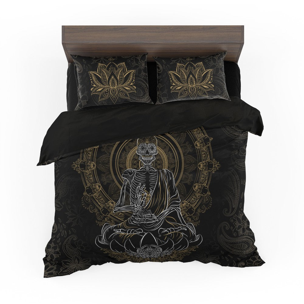 Skullistic™ Zen Meditating Skeleton Duver Cover Set