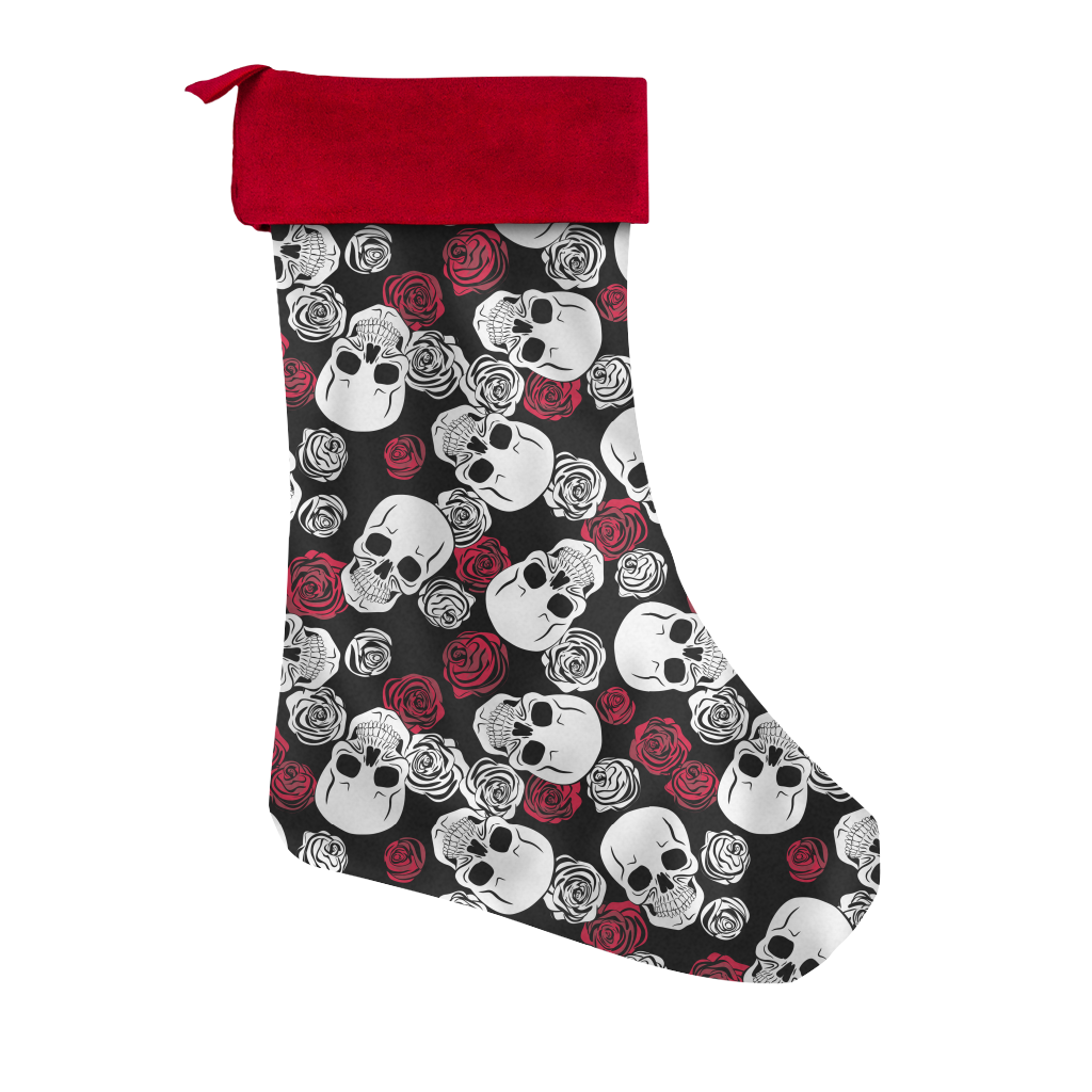 Skulls & Roses Christmas Stocking