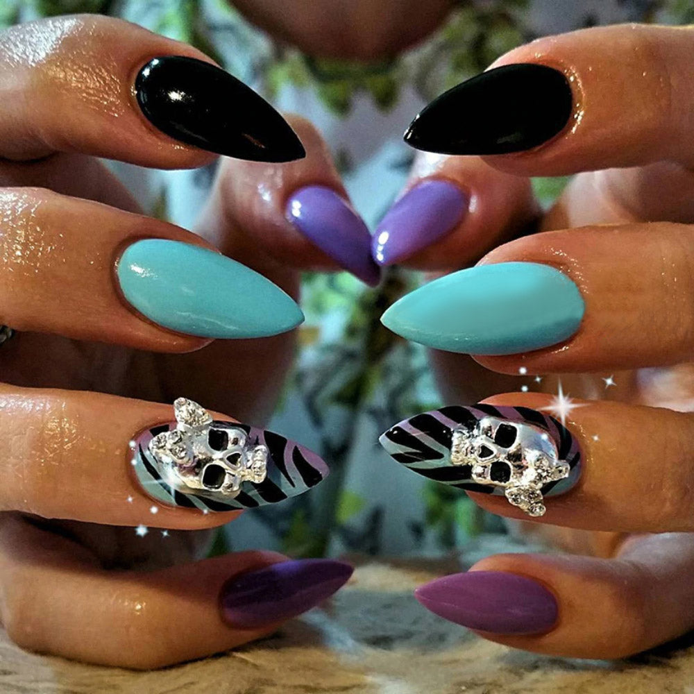 Nail Art Decorations Skull with Bow