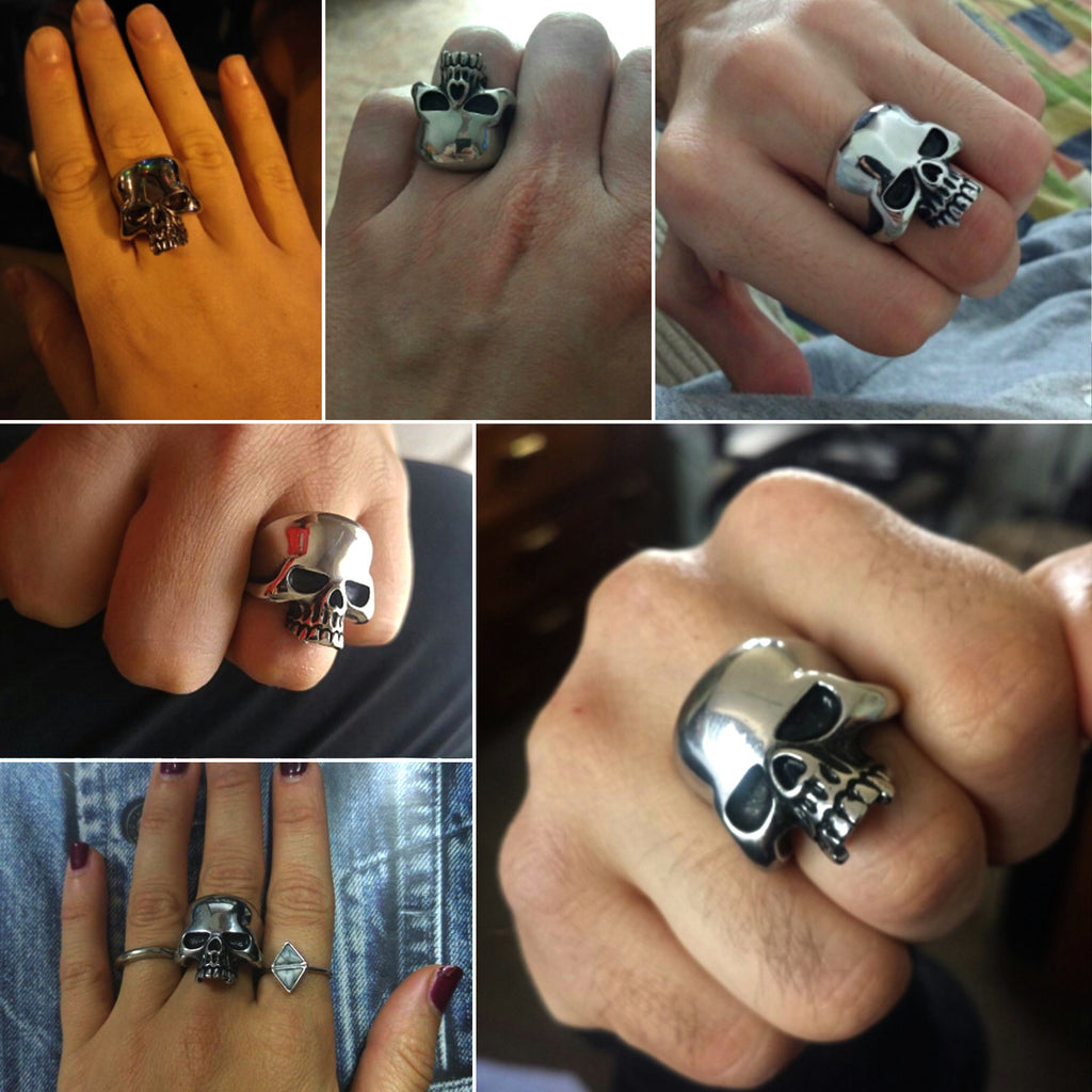 Stainless Steel Skull Rebel Ring