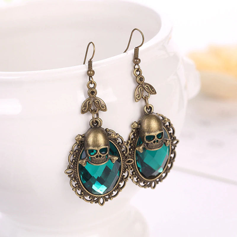 The Exalted Dream Vintage Skull Earrings