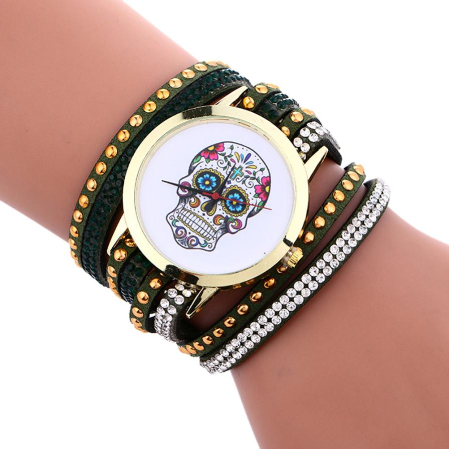 Sugar Skull Bracelet Lady's Watch