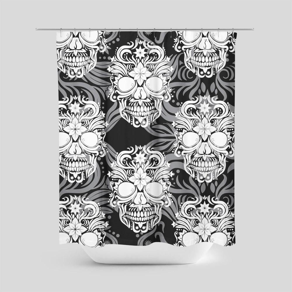 Enigma Skull Shower Curtain