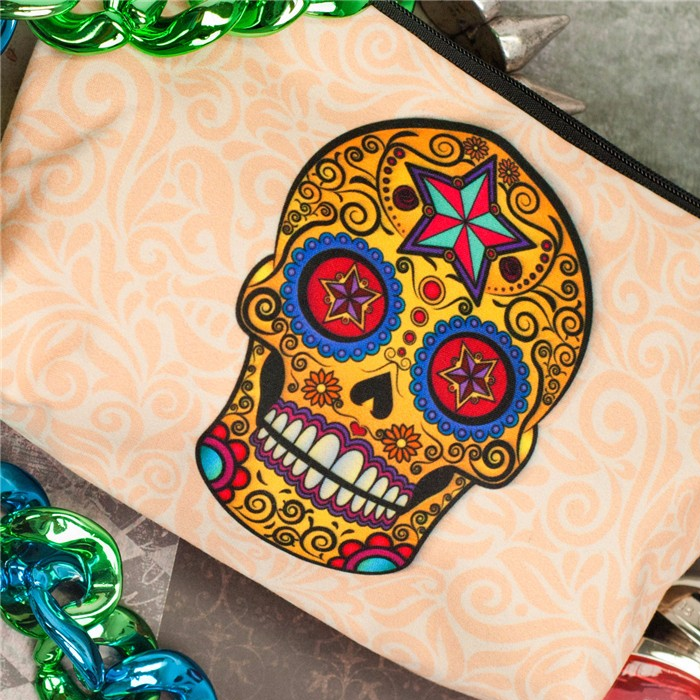 Sugar Skull Cosmetic Bag