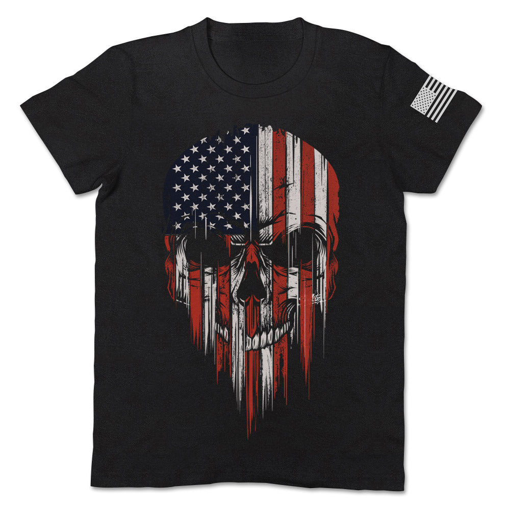 USA Flag American Skull Patriotic Apparel