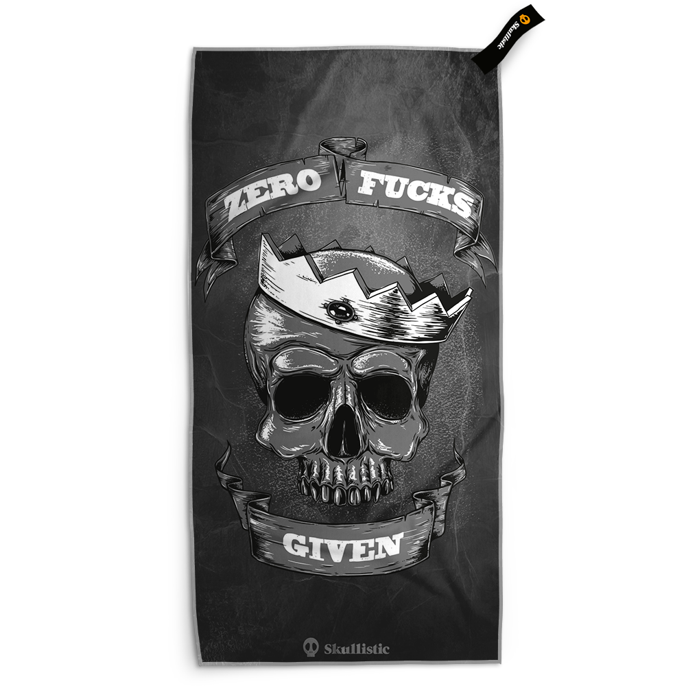 Zero Crowned Skull Black Towel