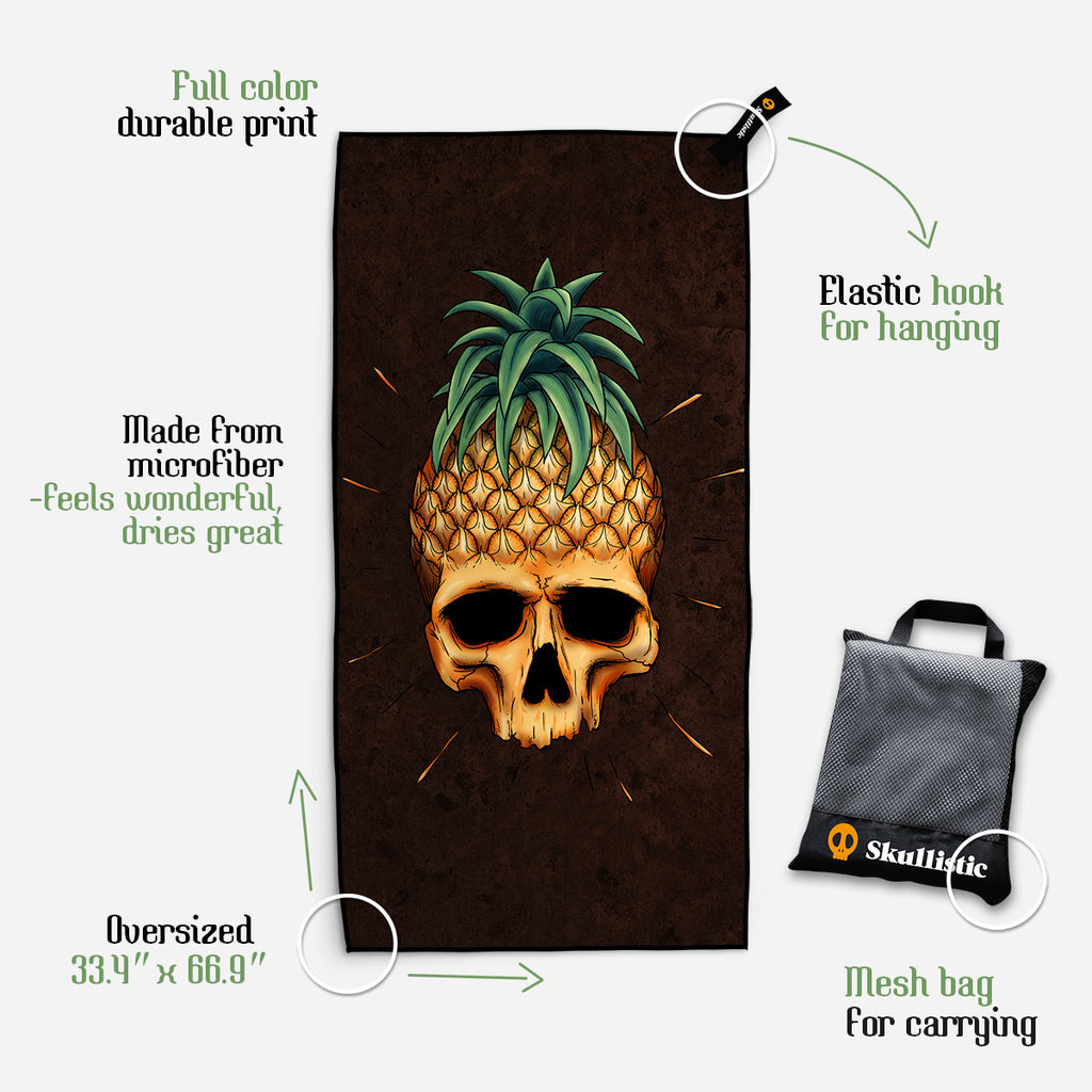 Skullistic Pineapple Skull Towel