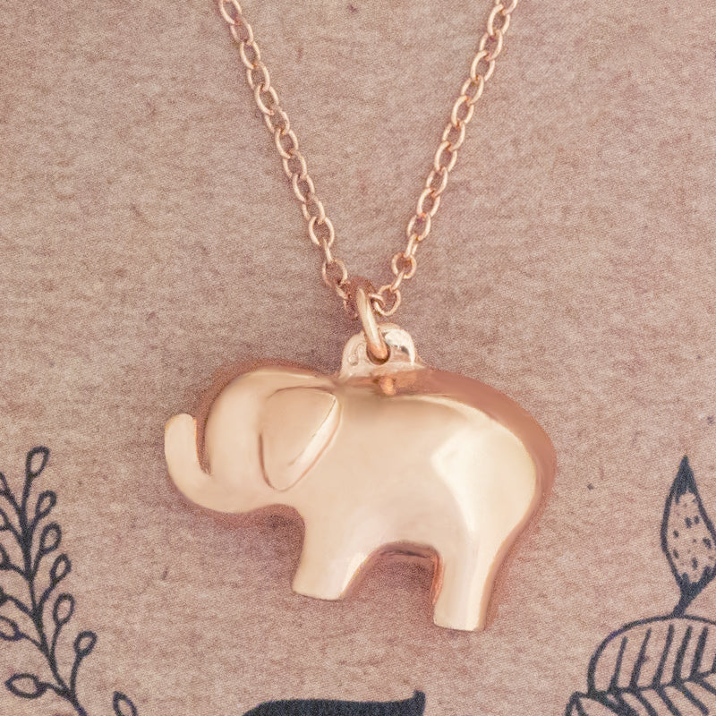 Born to be wild long elephant pendant necklace gold trunk in love born to be wild pendant necklace rose gold aloadofball Gallery