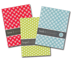 Faith, Hope, Love Journal Set - Three On-The-Go Journals