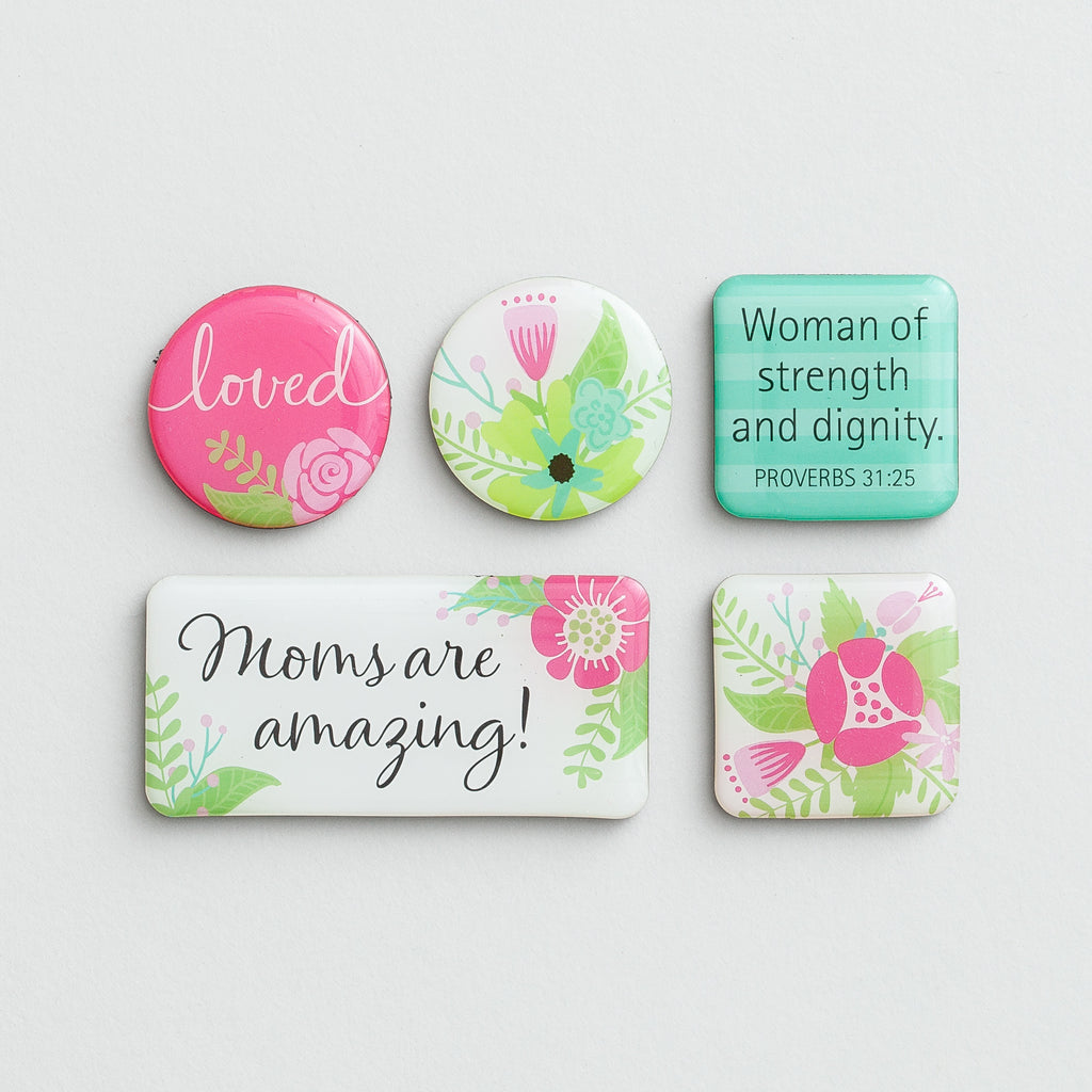 Moms Are Amazing - Inspirational Magnet Set
