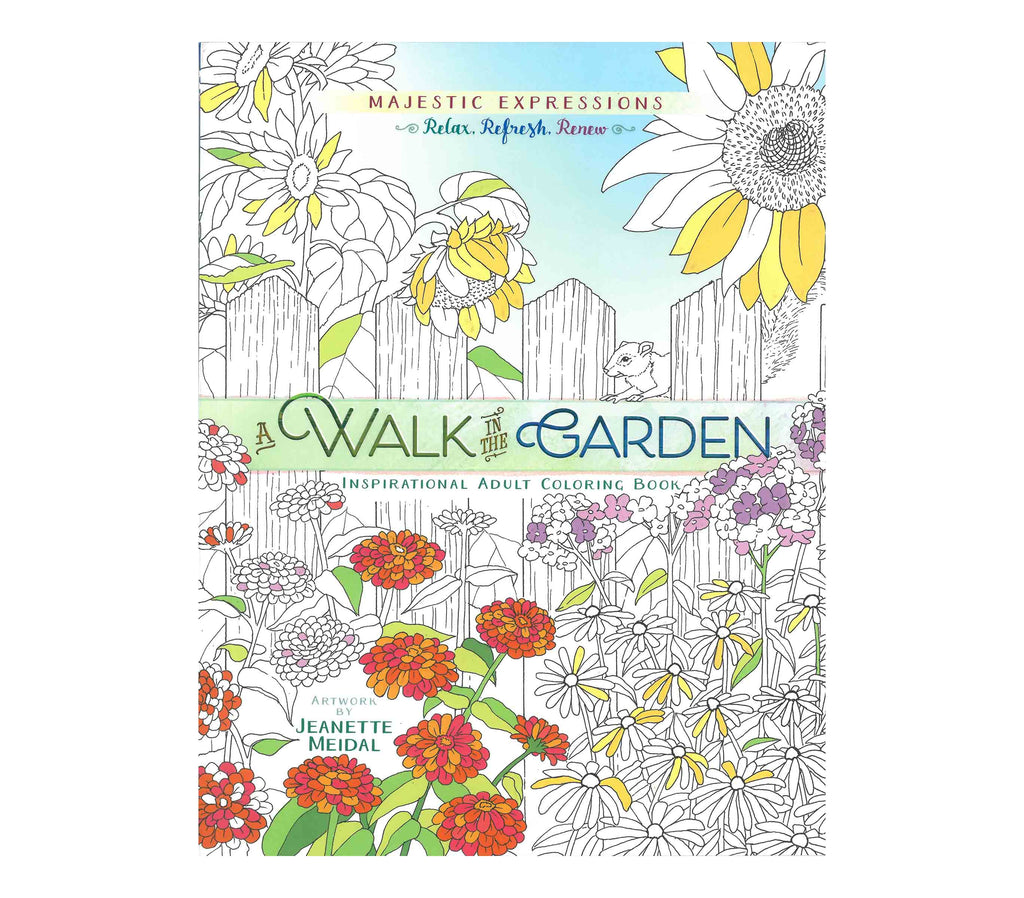A Walk in the Garden Coloring Book