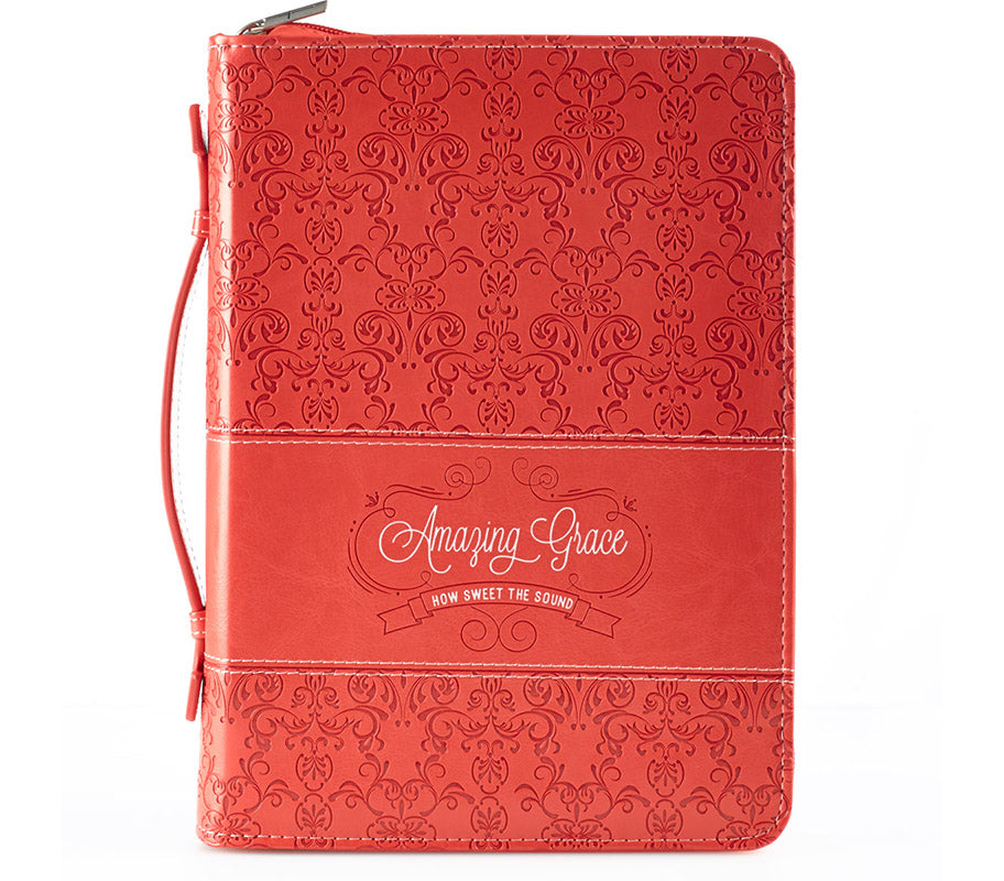 Amazing Grace Coral Fashion Bible Cover