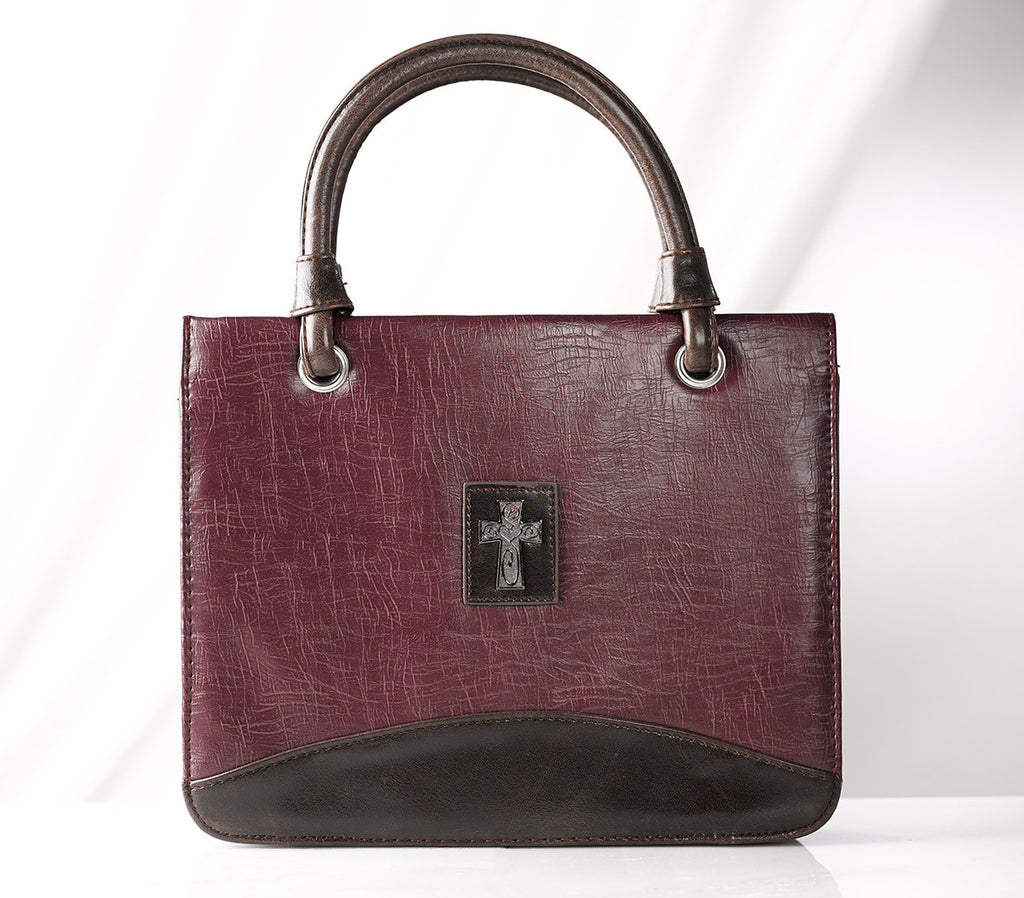 Purple Vintage Finish Purse Style Bible Cover