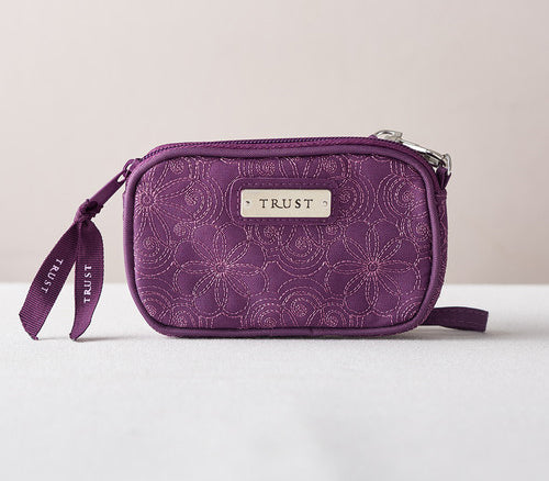 Trust Purple Wristlet Coin Purse