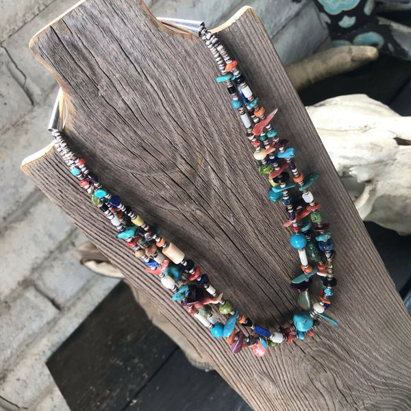 Daniel Coriz Multi Stone Beaded Necklace