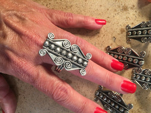 Lorenzo James Navajo Sterling Silver Navajo Ring Size 10